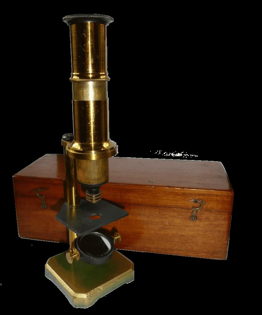 Franse singel pilaar microscoop